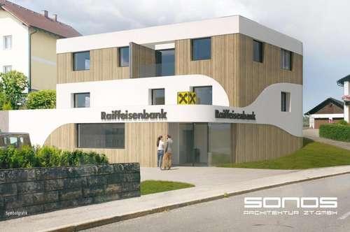 Mietwohnung im Raiffeisenbankgebäude
