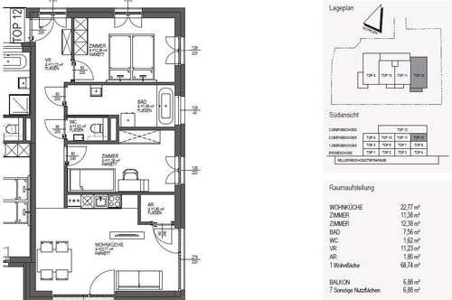 Top 3-Zimmer-Neubauwohnung - Projekt Fountain Suites
