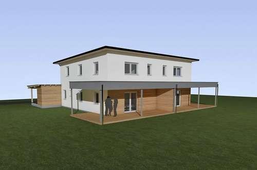 Schlüsselfertige Doppelhaushälfte mit Blick Richtung Traunstein
