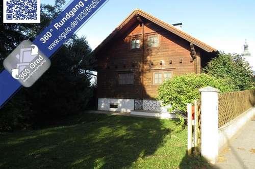 Sierndorf/Oberhautzental: Gemütliches, uneinsehbares Blockhaus mit Vollkeller