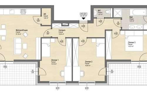 Toll aufgeteilte 4 Zimmer Neubauwohnung in Seenähe