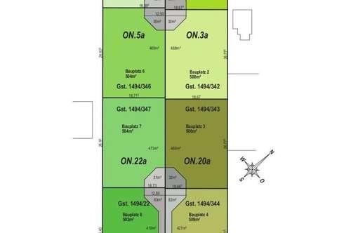 Provisionsfrei:Gänserndorf Süd, 4 freistehende Einfamilienhäuser Bauplätze aus Baumeisterhand>Zielmassiv>Niedrigernergie-Bauweise