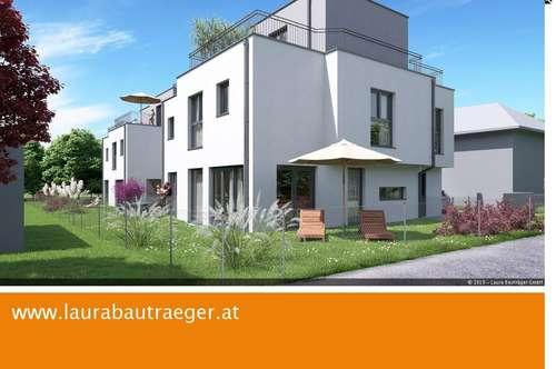 Modernes Doppelhaus mit großem Garten