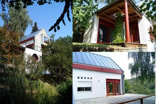 Einzigartiges Anwesen voll architektonischer Raffinessein absolut ruhiger Grün-Aussichtslage (Sackgasse)