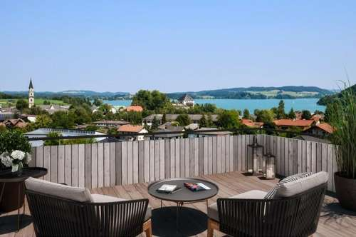 Neubau - Traumhafte 3 Zimmer Terrassenwohnung mit unverbaubarem Ausblick zum See - zum Kauf