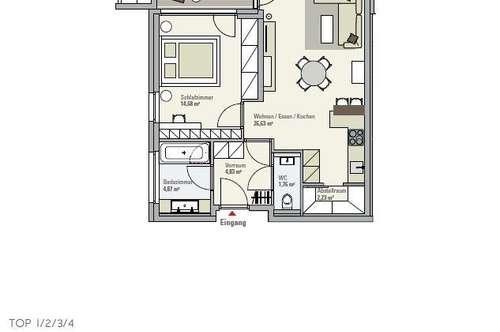 2 ZimmerTerrassen Wohnung in Anif zur Miete