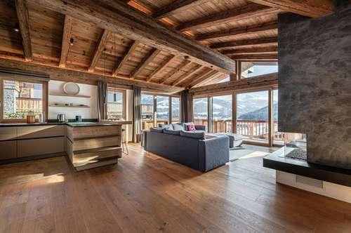 """Chalet """"Goldstreif"""" – exklusive Doppelhaushälfte in traumhaft sonniger Panoramalage von Kirchberg"""