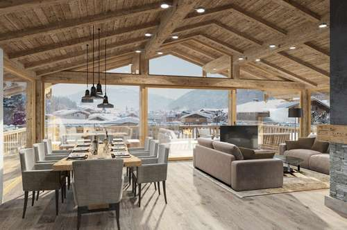 Penthouse -Wohnung in den TRINITY LODGES mit imposantem 360°-Panorama
