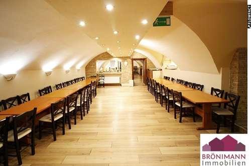 Restaurant mit Schanigarten und Gastgarten an der Donaulände