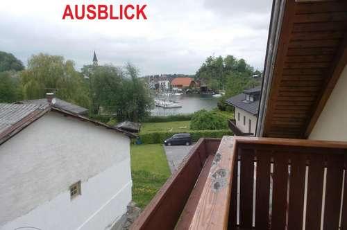 MIETE MATTSEE - mit SEEBLICK: Sonnige 71 m² 3 Zi-DG-Wohnung mit 7 m² Süd-Balkon - teilmöbliert