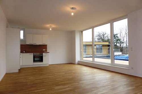 MIETE NEUBAU/ERSTBEZUG LIEFERING - Saalachstraße 86: Schöne 78 m² 3 Zimmer-Penthaus/Dachgeschoss-Wohnung mit 24 m² Süd-Terrasse - Top W 11