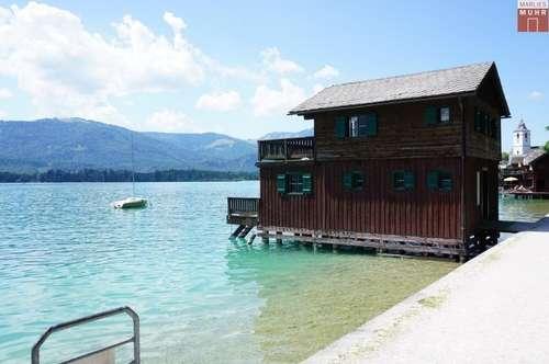 Begehrenswert! Landsitz am Wolfgangsee mit Bootshaus, Tennisplatz, Gästehaus auf 17.140 qm Grund