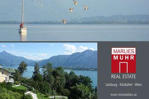 ENTSPANNTER LUXUS AM MONDSEE: Aussichtsreiche Seeblick-Villa bietet Urlaubsflair das ganze Jahr!