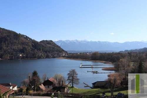 OSSIACHERSEE Grundstück in sonniger Hanglage mit unverbaubaren Blick auf den Ossiachersee und die Burg Landskron.
