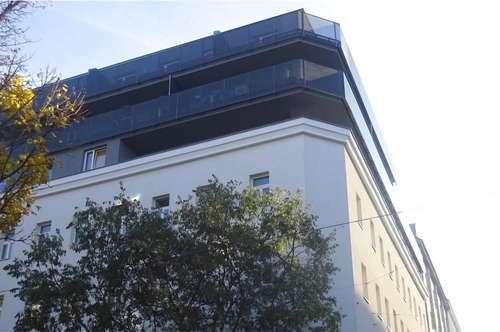 Terrassenhit - Aufstockung von saniertem Altbau (Neubau 2017): 58,11 m2 Wohnfläche + 15,32 m2 Loggia, Topzustand, Nähe Linie 1 + 6 + 18, Quellenstraße, S-Bahn-Matzleinsdorferplatz!
