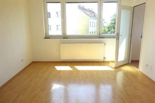 Grünblick: sehr hübsche Wohnung in guter Lage, 2 Zimmer und kleine Küche, sonnig, Bus 57A-Brückengasse, U4 + U6, unbefristet!