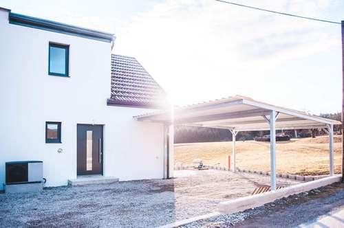 Nagelneue Niedrigenergie- Doppelhaushälfte in Mantscha mit perfekter Südausricht