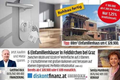 6 neue Einfamilienhäuser bei Puntigam/Graz! gw1