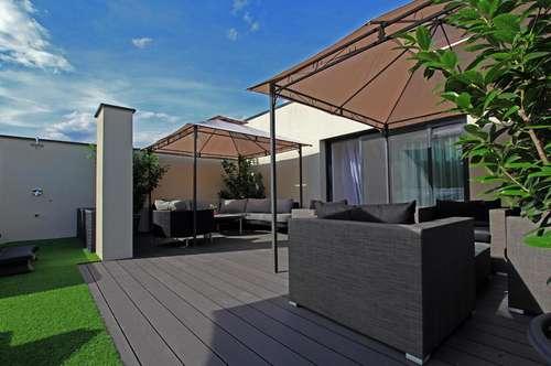 Eine Dachterrassenwohnung im Grünen