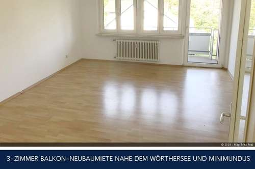Klagenfurt - 3-ZIMMER BALKON-NEUBAUMIETE NAHE DEM WÖRTHERSEE UND MINIMUNDUS