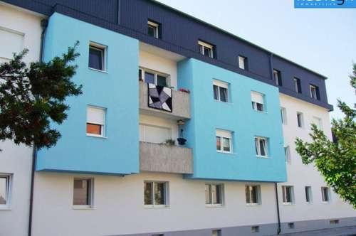 Gepflegte Erdgeschoßwohnung mit Loggia in Zentrums-/Bahnnähe