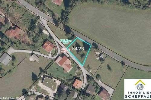 Sonniges Baugrundstück in Steinberg am Rofan zu verkaufen: