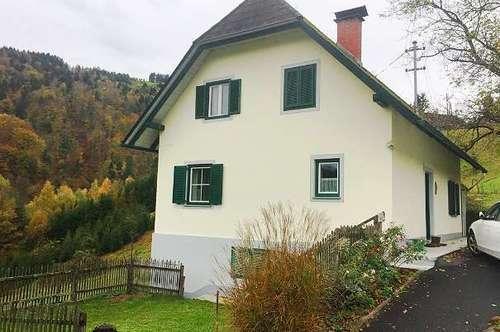 Nähe Wies: Einfamilienhaus mit Wirtschaftsgebäude und großem Grundstück in ruhiger, erhöhter Lage
