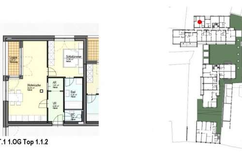 NEUBAU ERSTBEZUG - 2 Zimmerwohnung mit Loggia und TG-Platz
