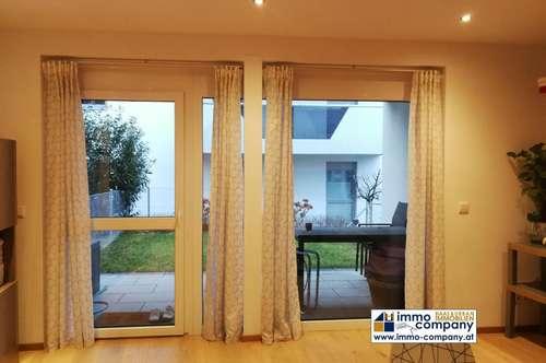 2 Zimmer-Gartenwohnung mit hochwertiger Ausstattung, Terrasse, Tiefgarage uvm.