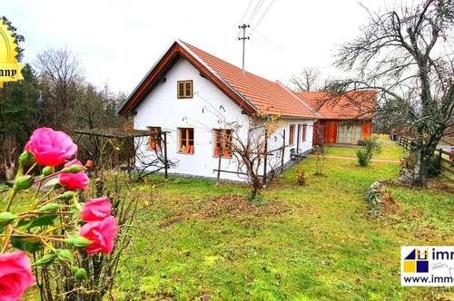 Wunderschönes Bauernhaus – Grün und absolut ruhig gelegen mit schöner Fernsicht! 6 Zimmer auf über 200m², sowie 31.000m² Grund – 470.000 Euro!