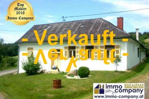 Bauernhaus mit Fernblick . . . ein Traum – ca. 110m² Wohnfläche – ca. 7.900m² Grundfläche - 125.000 Euro Wunderschöne, absolut ruhige Lage, östlich von Jennersdorf gelegen – Ideal für Pferdehalter!
