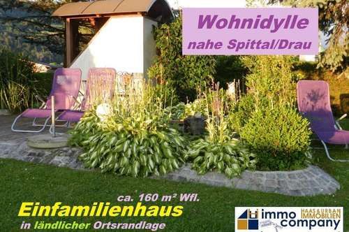 Schnell zugreifen! Top ausgestattetes Einfamilienhaus nahe Spittal/Drau