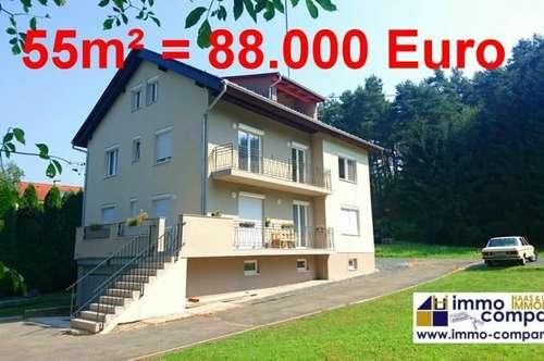 Neue, wunderschöne ETW – 55m², absolut ruhig gelegen, mit Garage/Kellerabteil und Gartenanteil!