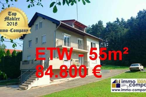 Neue, wunderschöne ETW – 55m², absolut ruhig gelegen, mit Garage/Kellerabteil und Gartenanteil - 84.800 Euro!