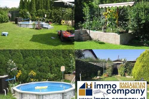 **Mein eigenes, kleines Haus am Wasser** inkl. Carport, Nebengebäude, Pool - voll ausgestattet in Ruhelage in Steinbrunn!