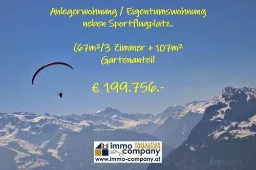 Eigentumswohnung - Renditenobjekt - Segelfliegerparadies - Paragleiten - Ferienwohnung - Zweitwohnsitz - 66,94m²