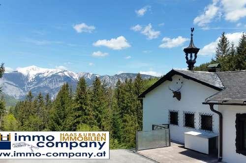 Landhaus mit Rax-Schneeberg-Panoramablick