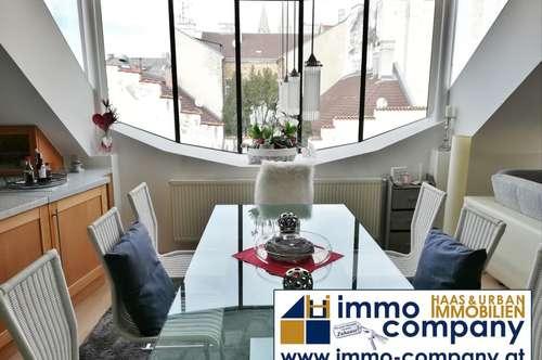 Exklusive Dachterrassenwohnung in generalsaniertem Altbau in Wr. Neustadt