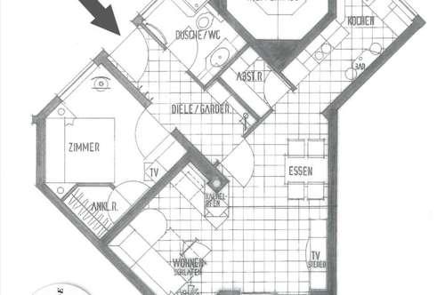 Mieming – Ruhelage mit unverbauter Aussicht: Lichtdurchflutetete gepflegte 2-Zimmerwohnung ,54,5 m² Wfl., Loggia, 2 Kellerräume, Tiefgarage, Autoabstellplatz, Sofortbezug