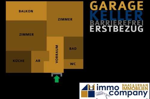 Erstbezug | Barrierefrei | Balkon | Garage