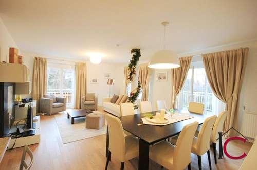 Elegante 4-Zimmer-Seeblickwohnung mit überdachter Terrasse und Carport in ruhiger Wörtherseelage