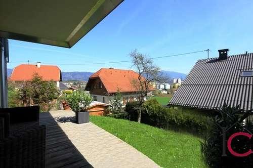 Sehr schöne 3-Zimmer-Wohnung mit großen Terrassen- und Gartenflächen in Warmbad/Villach