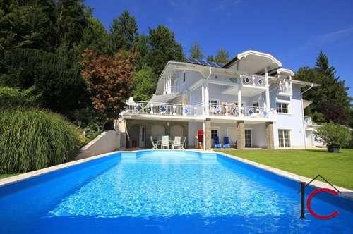 Traumhafte Villa mit Swimmingpool in Panoramahochplateaulage und Wörtherseenähe