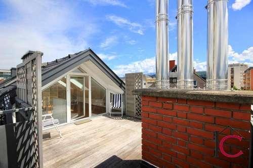 Moderne, lichtdurchflutete, Open Space Dachgeschosswohnung mit Sonnen-Dachterrasse