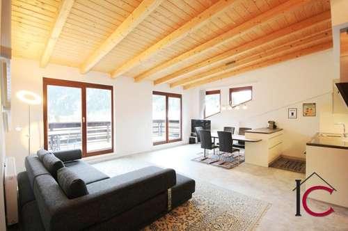 Schönes, helles Penthouse mit großer Aussichtsterrasse in Gehnähe zu den Pisten