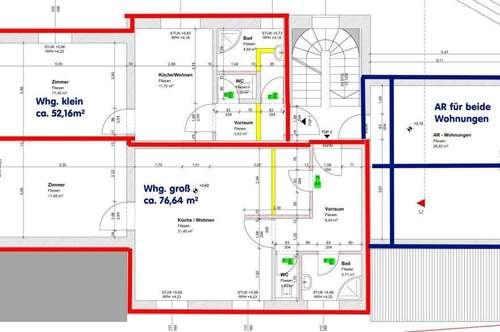 77m²  Wohnung im 1.OG