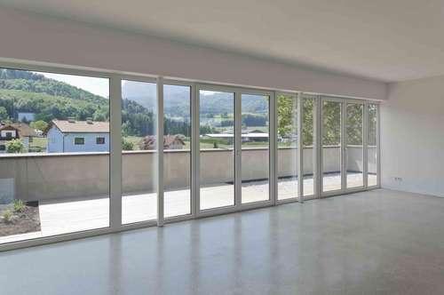 moderne Dachgeschoss-Wohnung mit Traunsteinblick im Grünen