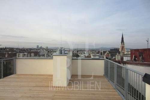 erstklassige Dachterrassenmaisonette mit Klimaanlage in gepflegten Jahrhundertwendehaus - unbefristet