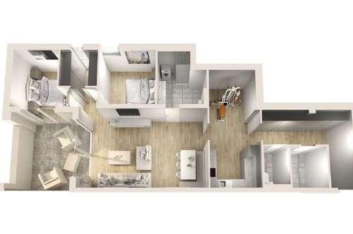 Hungerburglofts - Exklusive 3-Zimmer-Wohnung in erstklassiger Aussichtslage!