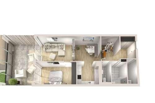 Erstklassige Aussichten! 2-Zimmer-Neubau-Wohnung mit Loggia